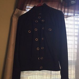 Heavyweight short jacket with buttons